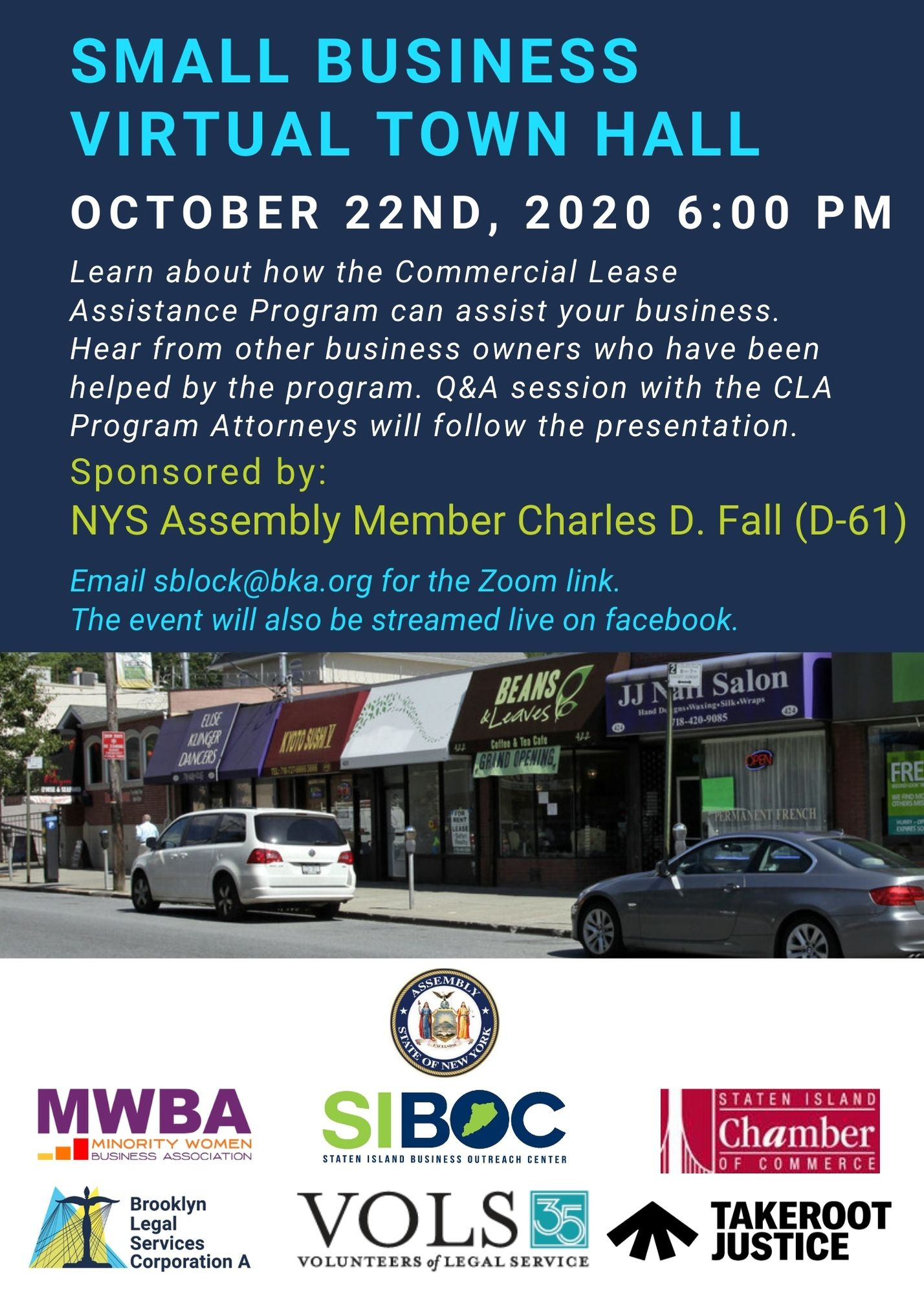 Town Hall: Small Business Virtual Town Hall – October 22nd, 2020 At 6 Pm