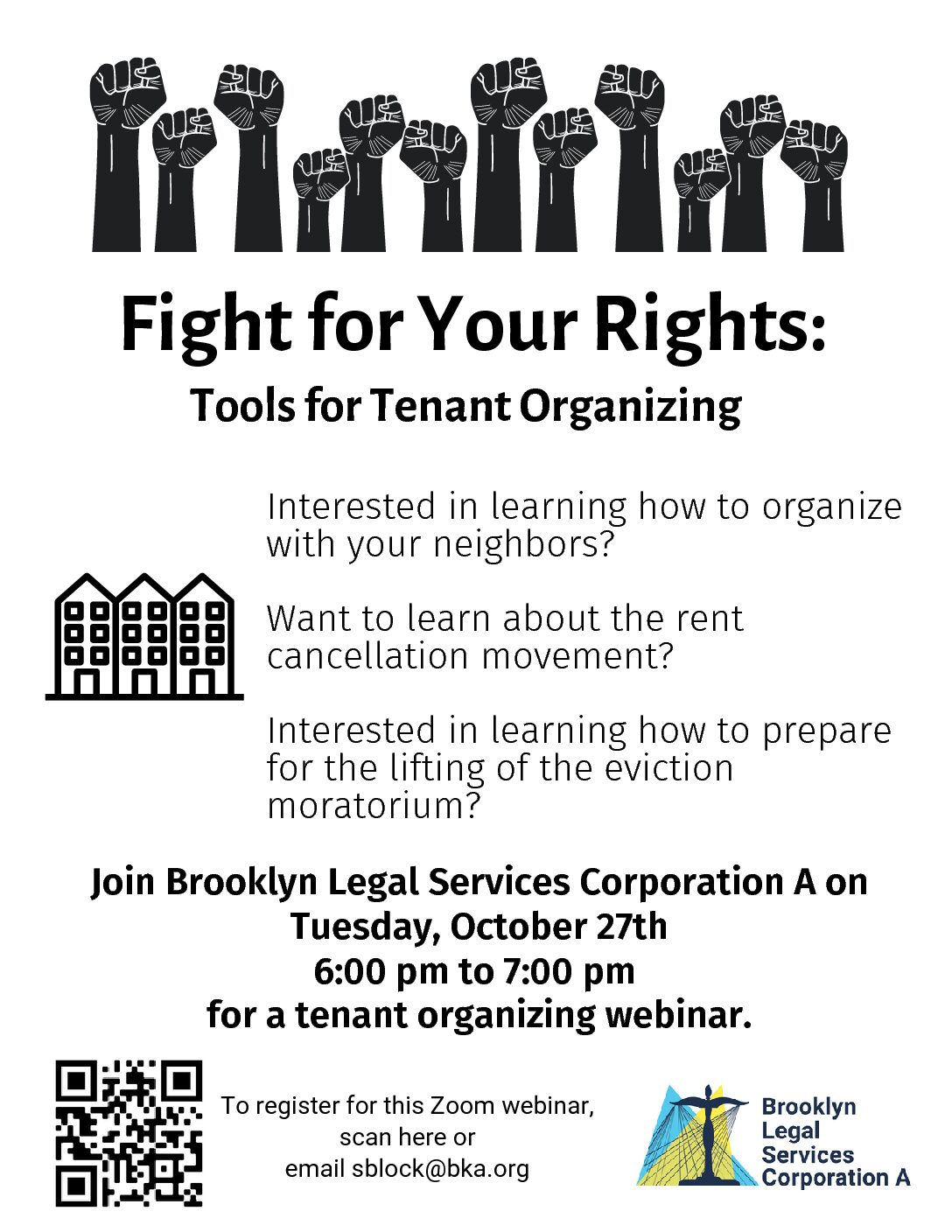 Webinar: Fight For Your Rights: Tools For Tenant Organizing – October 27th, 2020 At 6 Pm