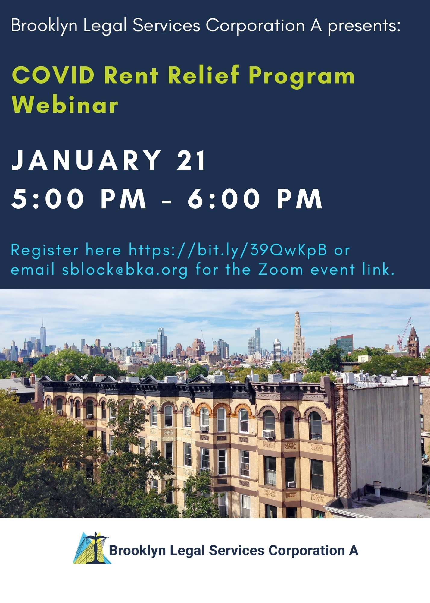 Webinar: January 21st At 5pm – COVID Rent Relief Program