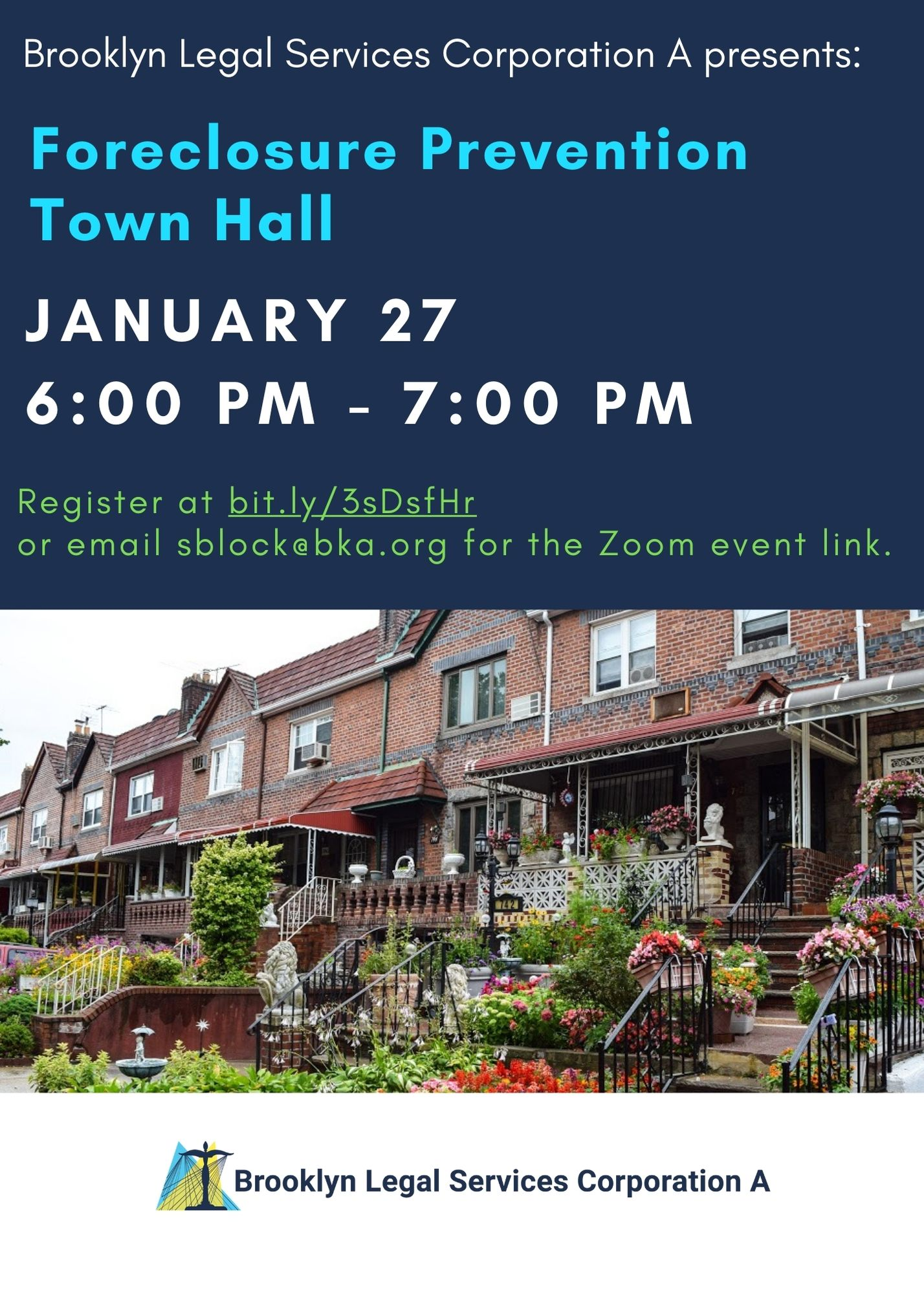 Webinar: January 27th At 6pm – Foreclosure Prevention