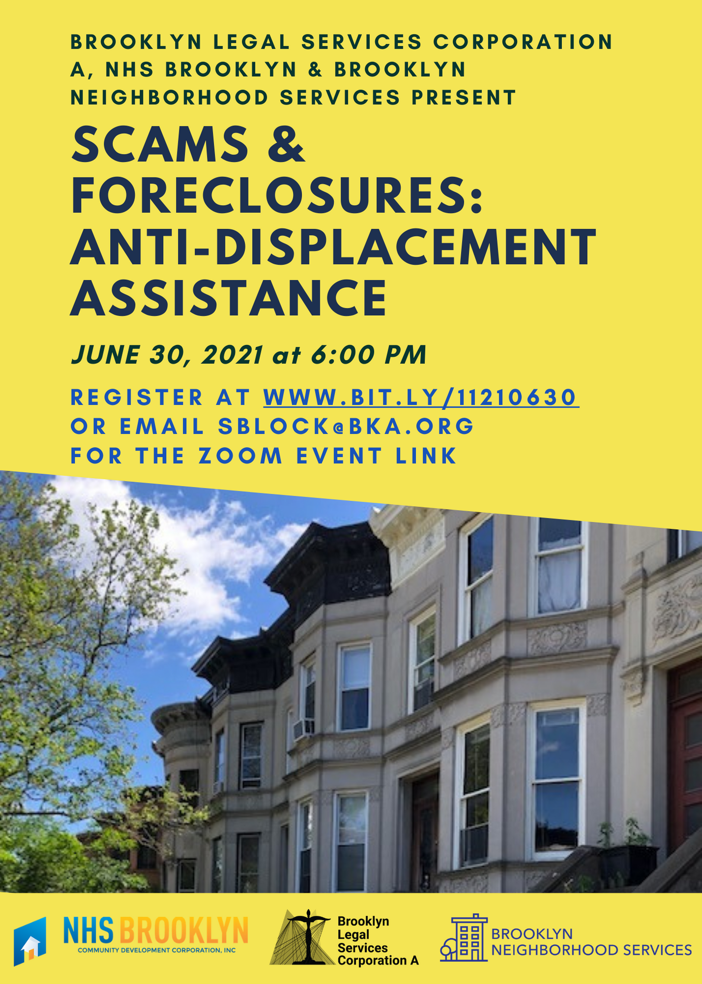 Scams & Foreclosures: Anti-Displacement Assistance