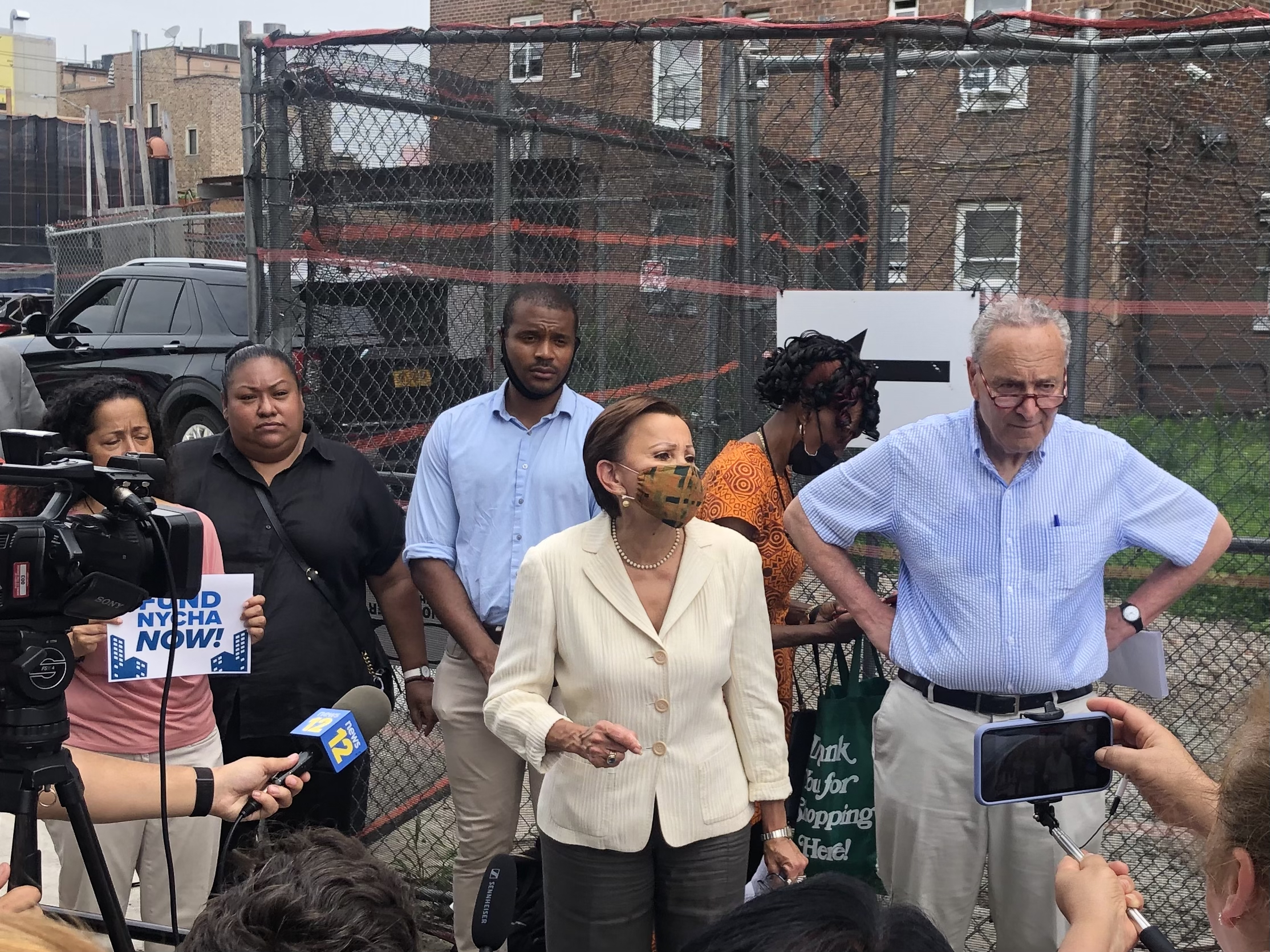 Sen. Chuck Schumer, Rep. Nydia Velazquez, City Officials, Join NYCHA Residents