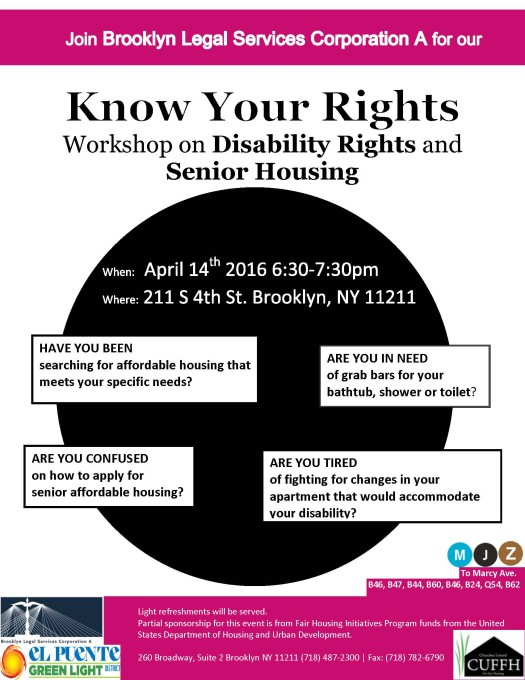 Know Your Disability and Senior Hosuing Rights Flyer